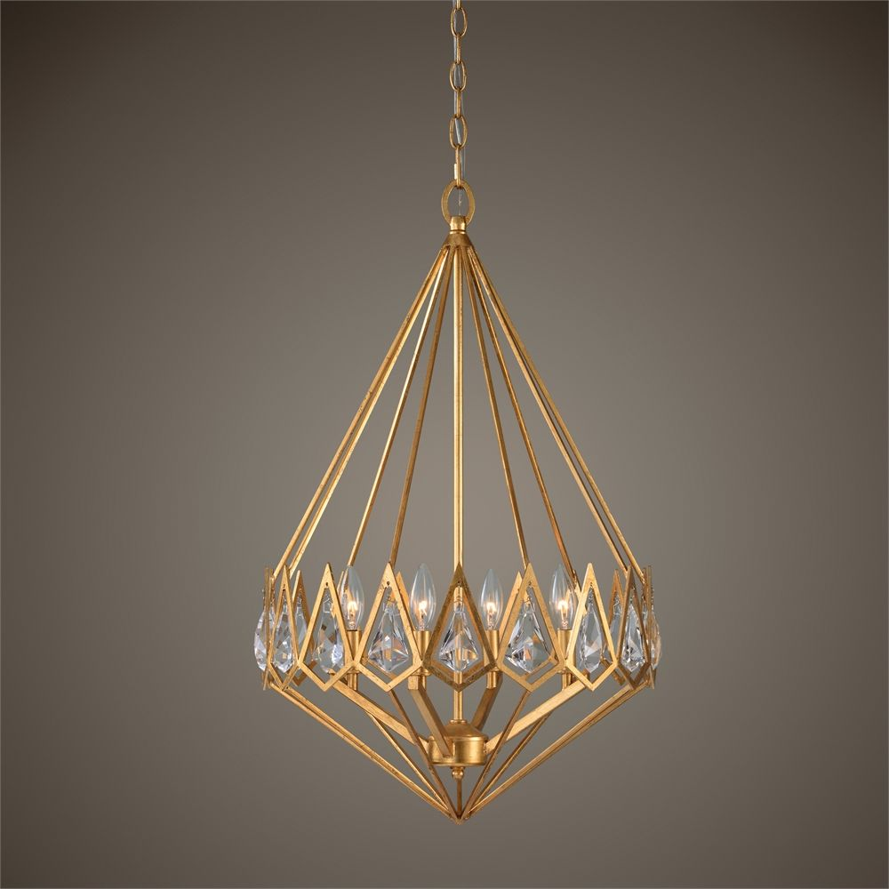 Uttermost eclatant 4 light gold diamond pendant lighting uttermost eclatant 4 light gold diamond pendant mozeypictures Image collections
