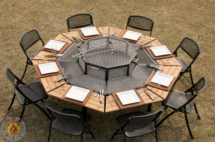 JAG Grills: 3 in 1 BBQ Grill, Table, & FirePit | Fire pit