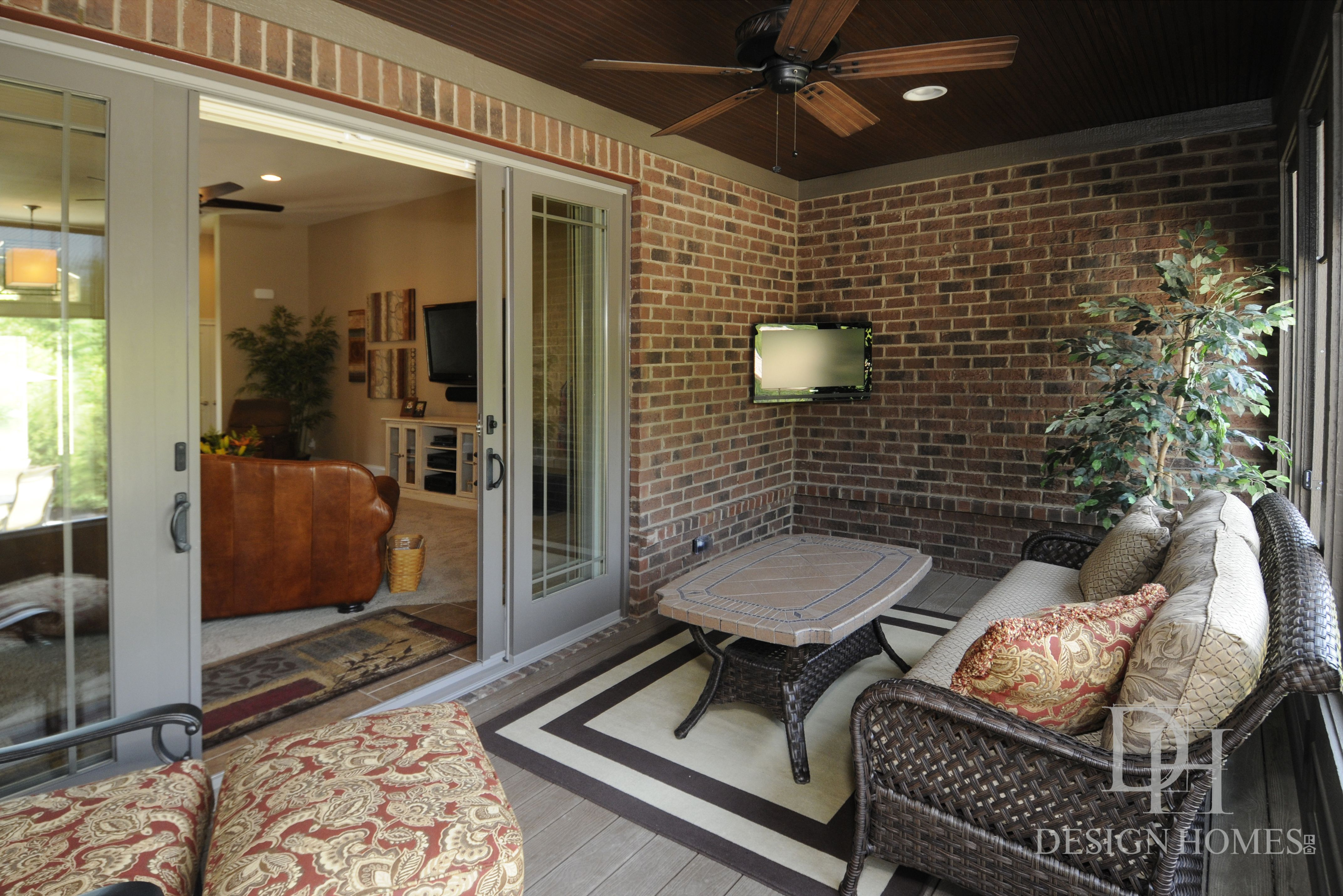 Custom built outdoor space by Design Homes & Development Co ...