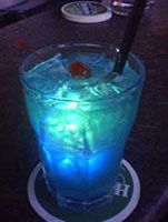 "Virgin Blue Hawaii (recipe calls for Blue Curacao, which is not typically ""virgin,"" but there is a non-alcoholic syrup)"
