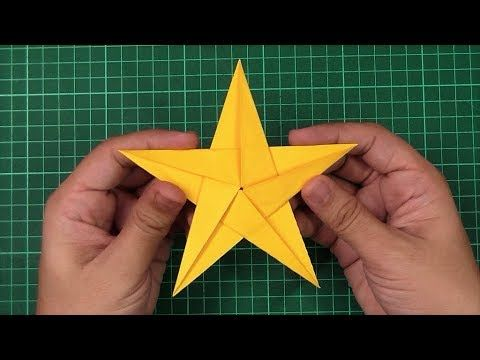 How To Make Simple Easy Paper Star 2 Diy Paper Craft Ideas