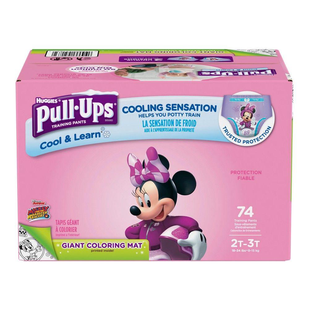 Huggies Pull Ups Girls Cool Learn Training Pants Size 2t 3t 74ct In 2020 Huggies Pull Ups Potty Training Pants Toddler Training Pants