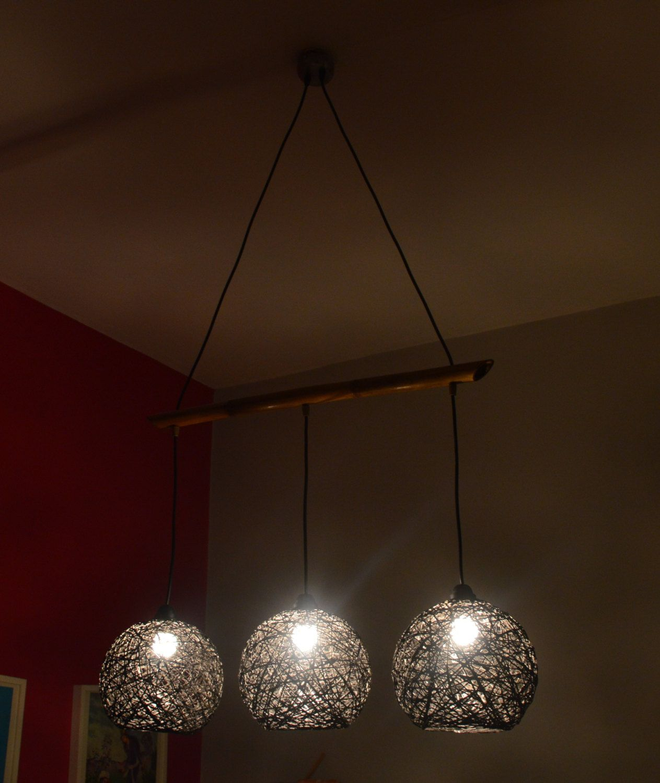eco friendly lighting fixtures. String Chandelier Light Twine Triple By FourSeasonsCreations Eco Friendly Lighting Fixtures F