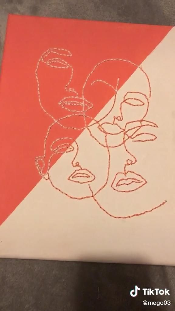 Art Idea Video Embroidered Canvas Art Mini Canvas Art Diy Canvas Art