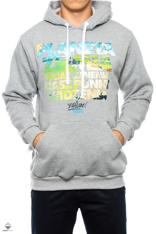 Bluza Kaptur El Polako Planeta Grey Mens Outfits Kr3w Clothes