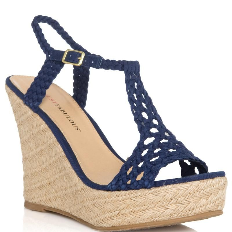 Blue wedge shoes, Navy blue wedges