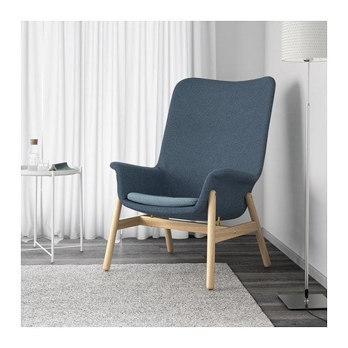 Armchair Vedbo Gunnared Blue New Home Fauteuil Haut
