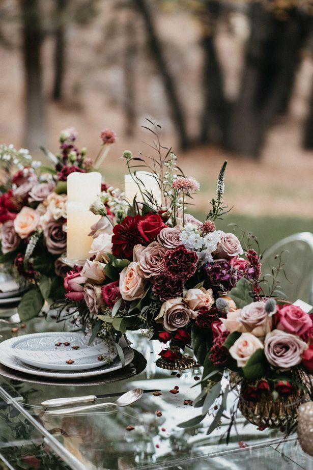 Modern Romance Meets Rustic Fall Vibes in this Fairytale Wedding Inspiration #garlandofflowers