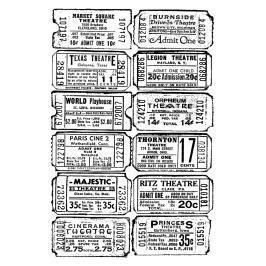 Time Tim Holtz Cling Stamp 2.5X3.5