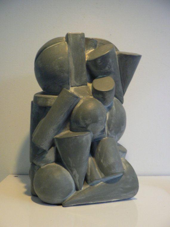 RESERVED for EDWARD bauhaus cubist modernist sculpture ...