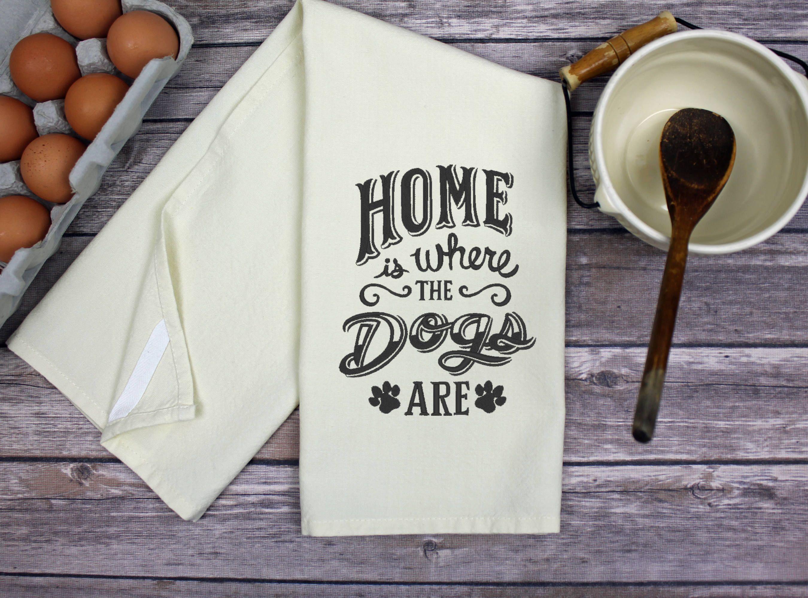 Kitchen Dish Towel - Dogs Kitchen Towel - Tea Towel - Dish Towel ...
