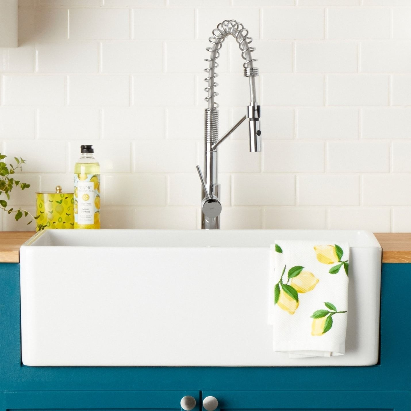 Highpoint Collection 30 Inch Fireclay Farmsink With Grid And Drain Farmhouse Sink Kitchen Sink Farm Sink