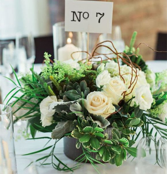 Botanical Centerpieces For Garden Wedding