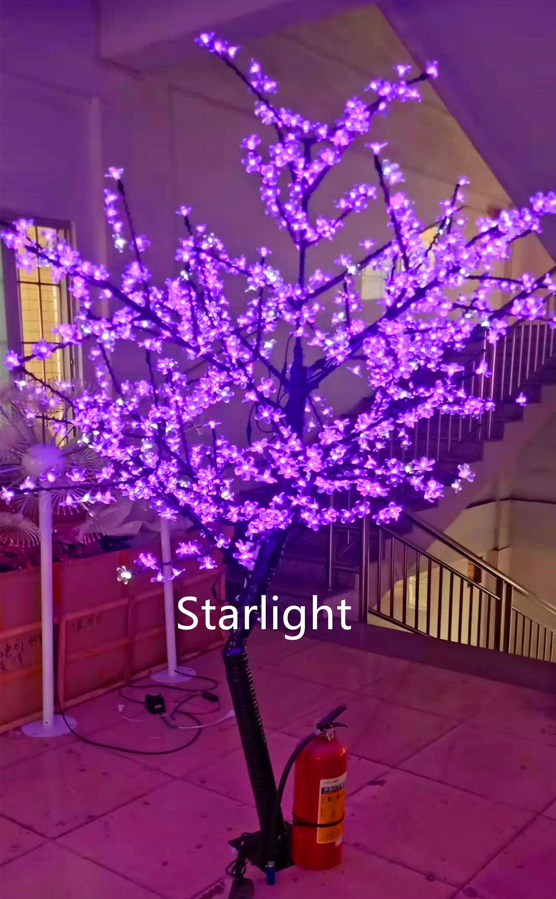 7ft Outdoor Led Artificial Cherry Blossom Tree Light Christmas Etsy Artificial Cherry Blossom Tree Cherry Blossom Tree Multi Colored Christmas Lights