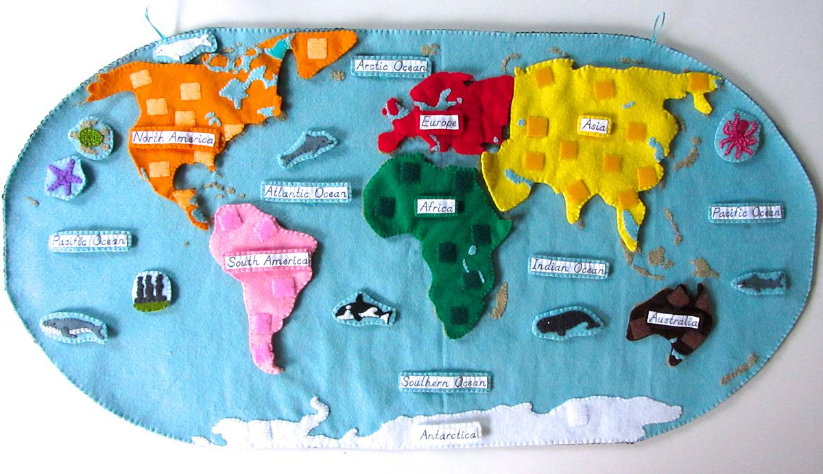 Montessori Quiet Map Felt Interactive Animals Of The Ocean For The Montessori Wall Map Love This Would Take Time To Make But I Think Totally Worth It