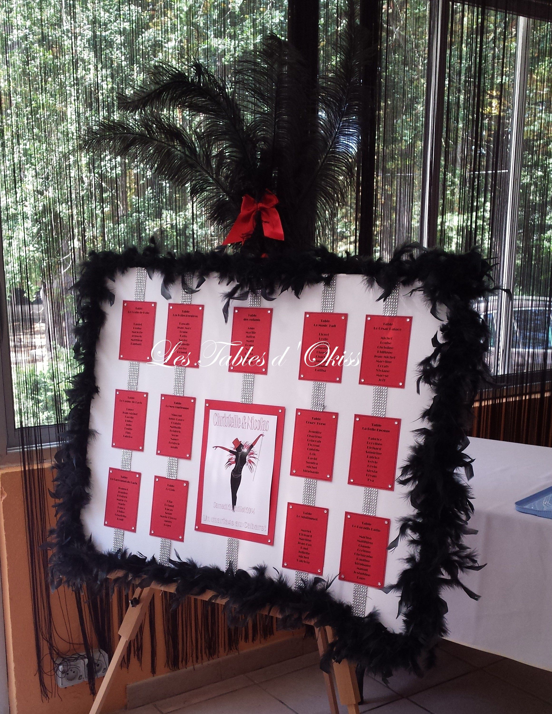 Moulin rouge party moulin rouge party pinterest - Plan De Table Cr Ation Les Tables D Okiss Mariage Cabaret Moulin Rouge
