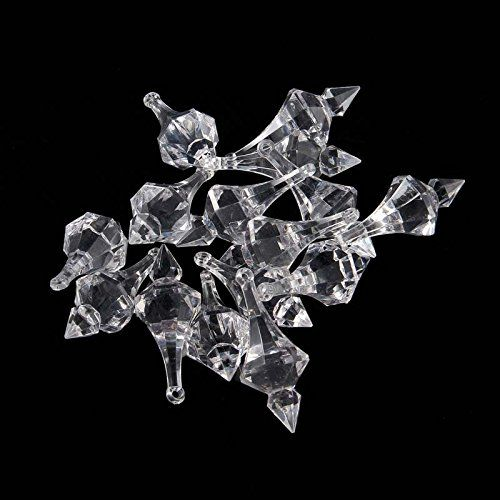 Ujoy clear hanging acrylic chandelier drops1 pound bag ujoy clear hanging acrylic chandelier drops1 pound bag approximately 44 pieces for mozeypictures Images