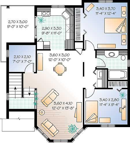 Planos de casas gratis plano de chalet 2 plantas for Habitaciones 3d gratis