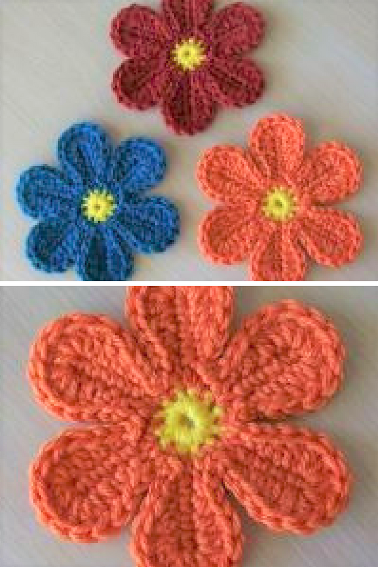 Free Patterns] Adorable And Groovy Crochet Flowers That Look ...