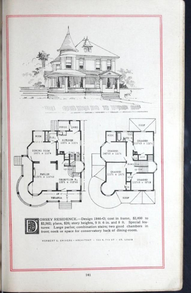 Artistic Homes Herbert C Chivers Architect Vintage House Plans House Floor Plans House Plans