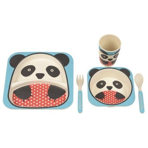 La Chaise Longue bamboe box kinderservies panda - Keck en Lisa ... on chaise recliner chair, chaise sofa sleeper, chaise furniture,