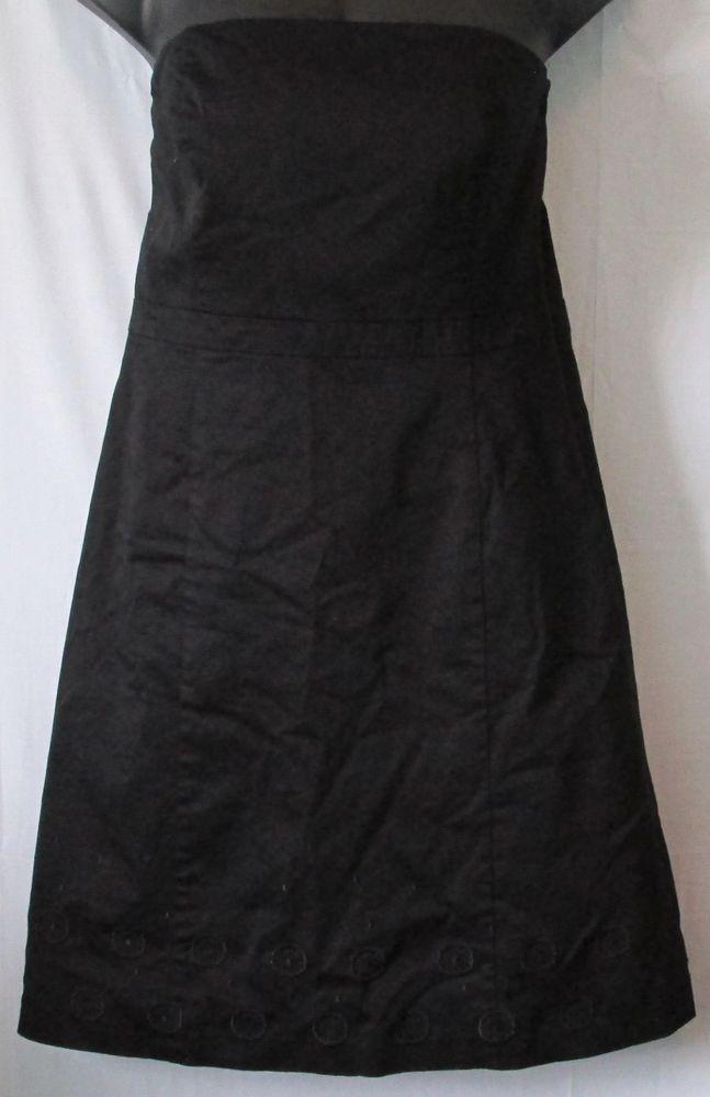 1319657d95 Ann Taylor Plus Size Black Halter Top Dress With Embroidered Hem Design Size  16