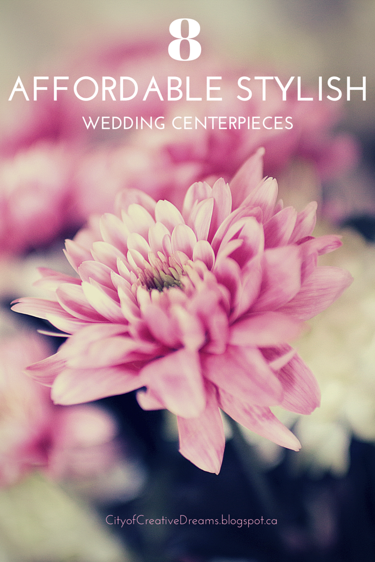 affordable stylish wedding centerpieces merry monday link party