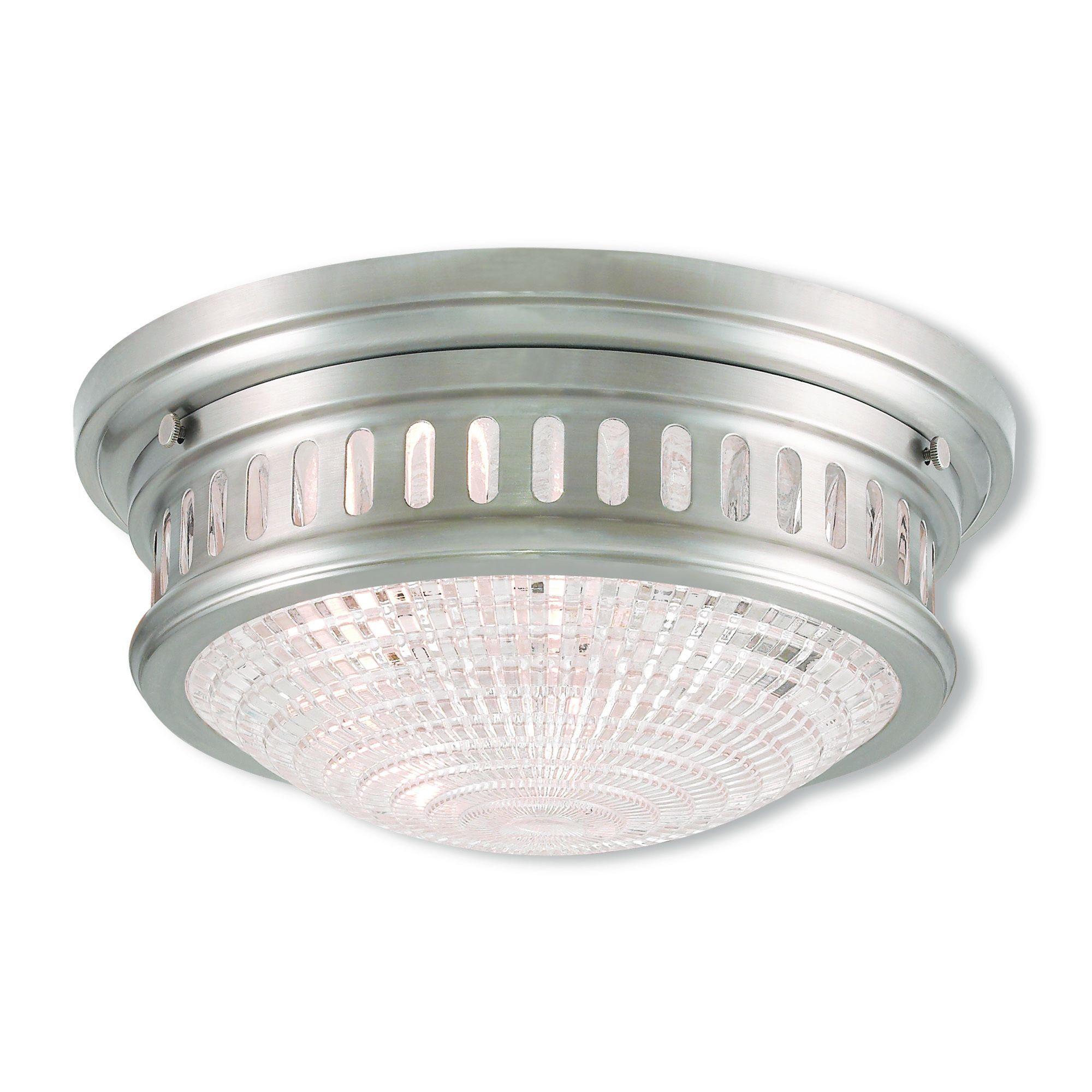 Livex Lighting Berwick 2-light Brushed Nickel Flush Mount (Brushed Nickel) (Metal)