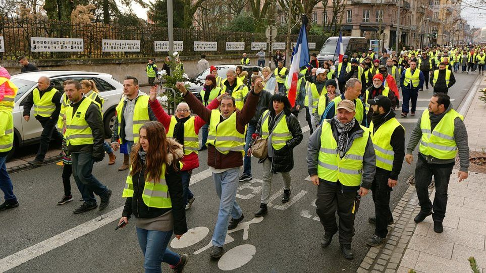 Ta Kitrina Gileka Bgainoyn Stoys Dromoys Toy Londinoy Yellow Vest Vest Movement