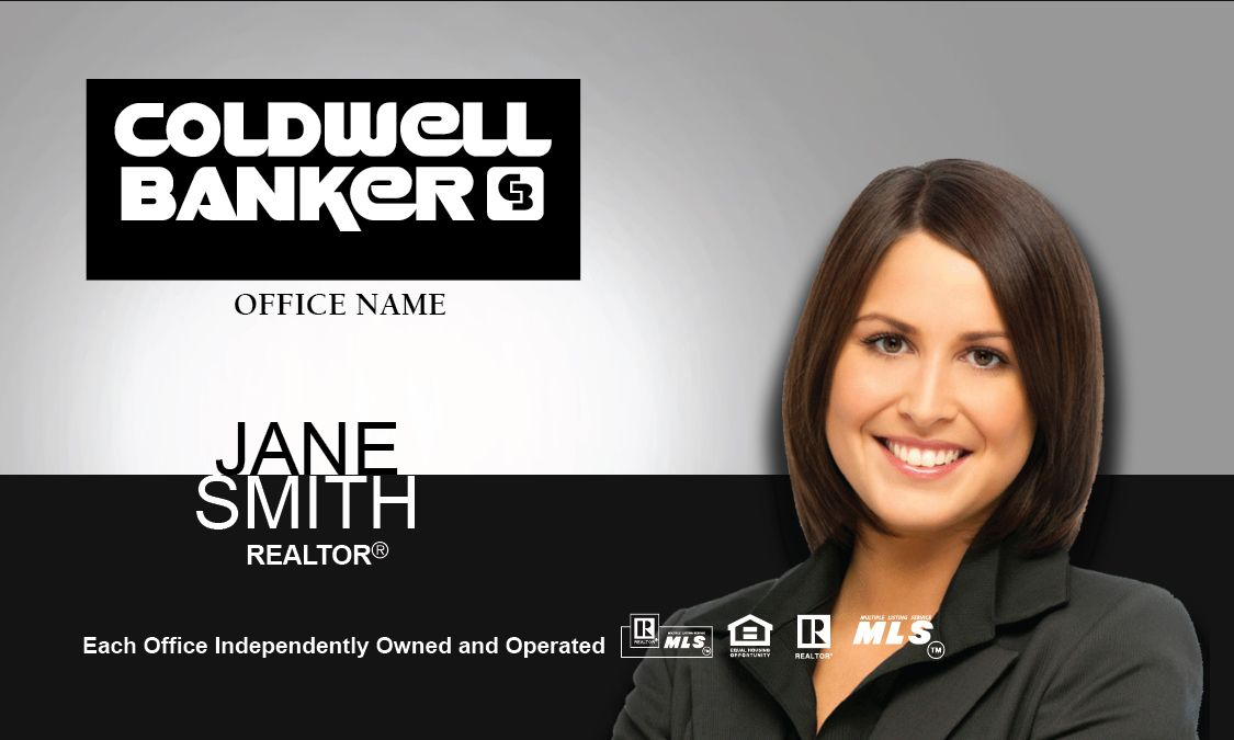 Black Silver Coldwell Banker Business Card Info Pinterest