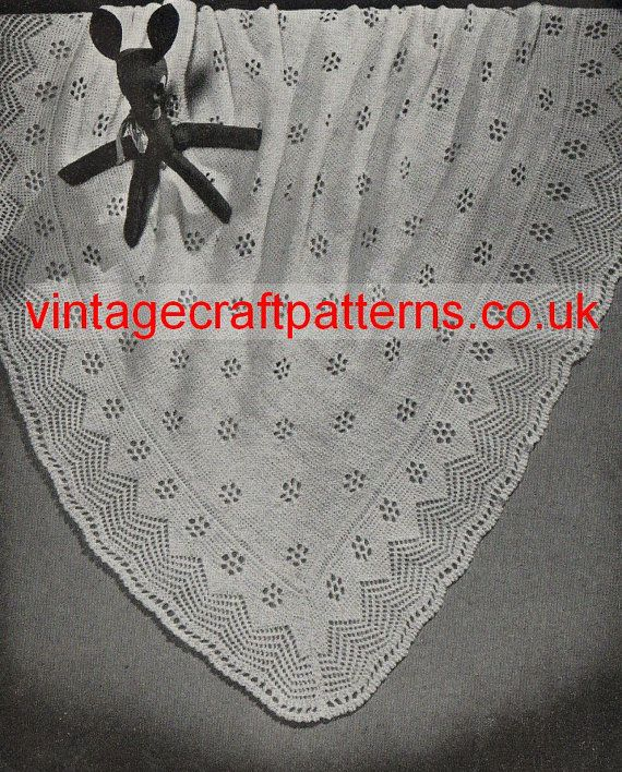 Vcp100 Prince George Of Cambridge Vintage Baby Shawl Knitting