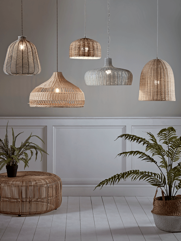 NEW Grey Chevron Rattan Shade   Ceiling Lights   Lighting