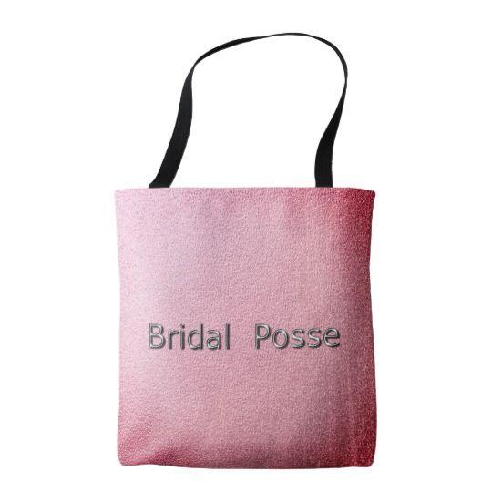 Bridal-Posse_Sangria-Foil*-Silver-*_Multi-Sz Tote Bag
