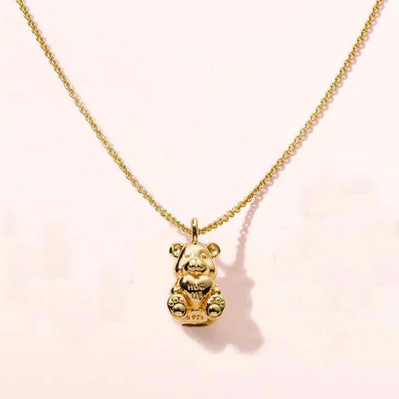 893bfe1ccb0a8 Shine Theodore Bear Necklace in 2019   Best Friends   Jewelry, Gold ...