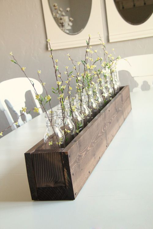 Recycled Table Centre Display Planter Box CenterpieceKitchen CenterpiecesDiy CenterpiecesPlanter BoxesDining