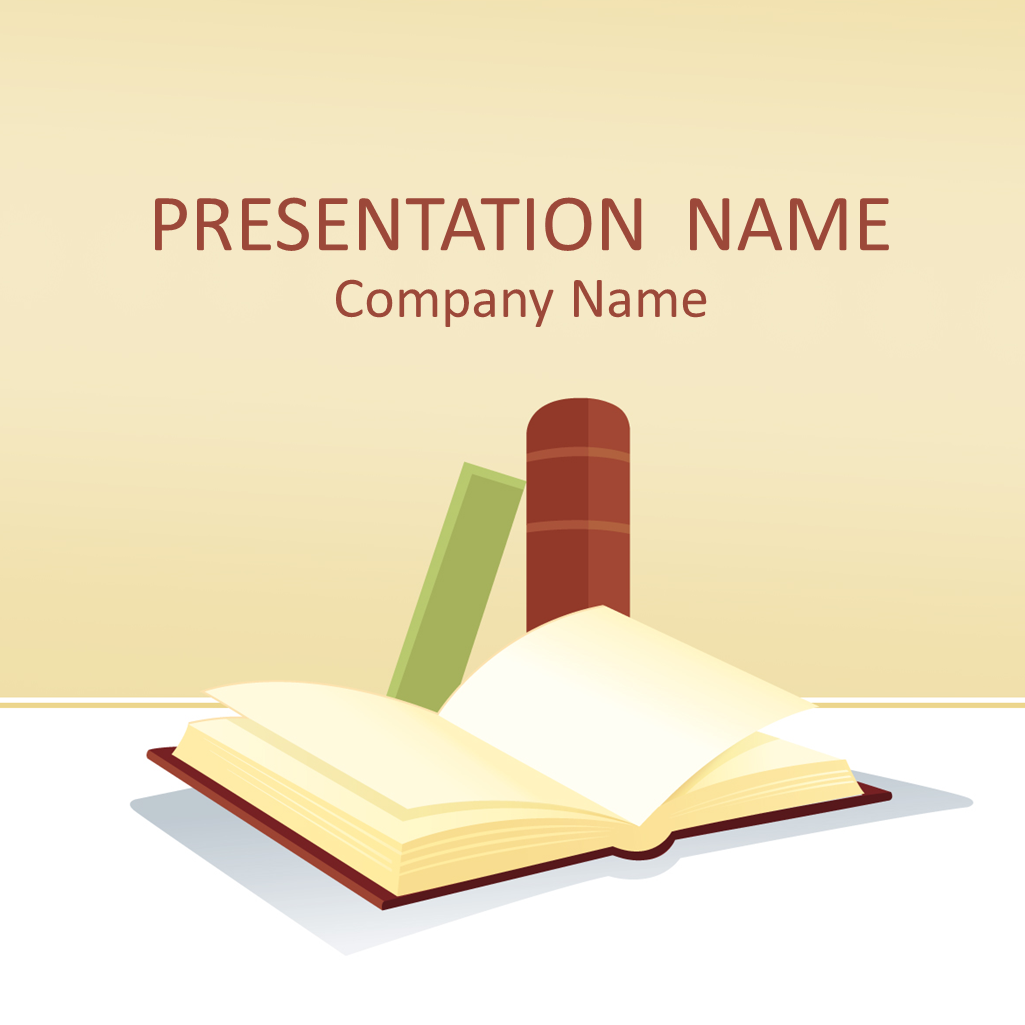 books powerpoint template | education powerpoint templates, Presentation templates