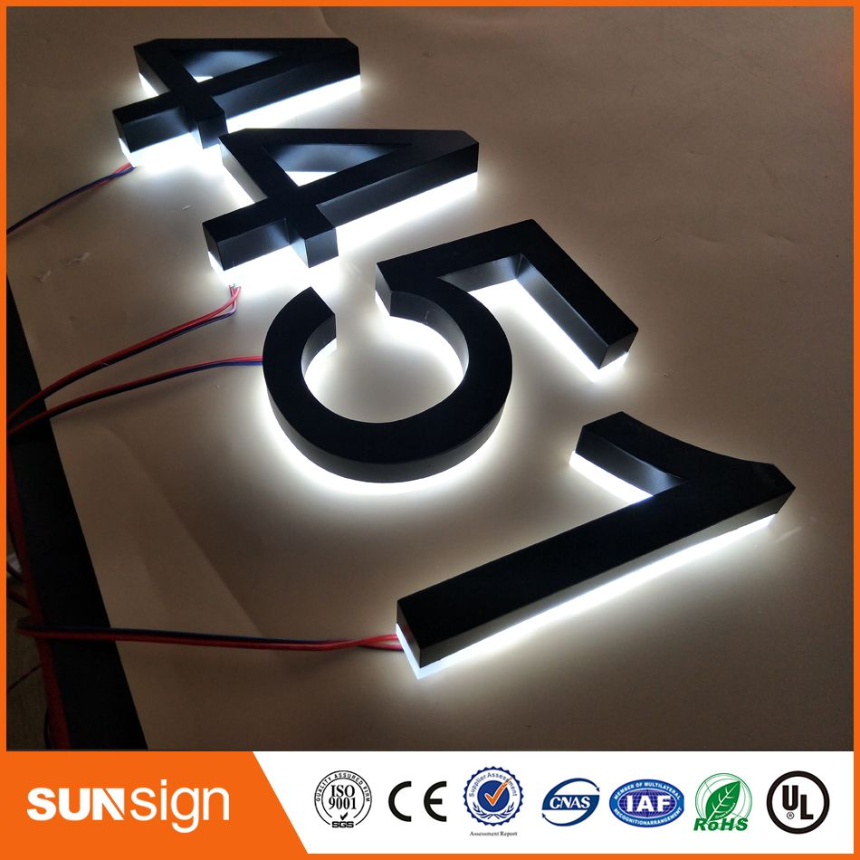 Metal Outdoor Letters And Numbers Magnificent Custom Metal Signs Led Backlit Signs Embossed Metal Letters And 2018