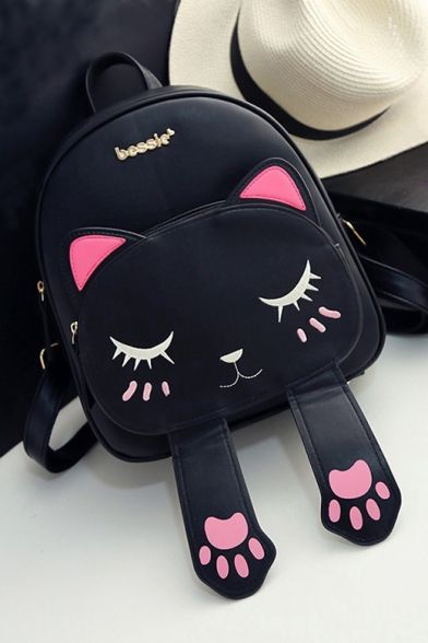 New Fashion Lovely Cartoon Cat Printed Outdoor Leisure Backpack
