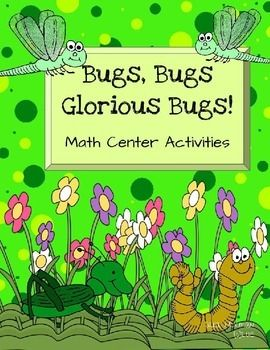 """Bug and Insect Math CentersWho can play? Preschool Kindergarten (5 to 6 years of age) HomeschoolLet's PlayCreepy County Sequences Place the right bug, insect or crawler over the """"."""" Count by 1's, 2's, 5's and 10'sHow many bugs fit? Using small counters fill the variety of shapes Can add skills by using different size countersNumber Flip Math Center Create a group for the number."""