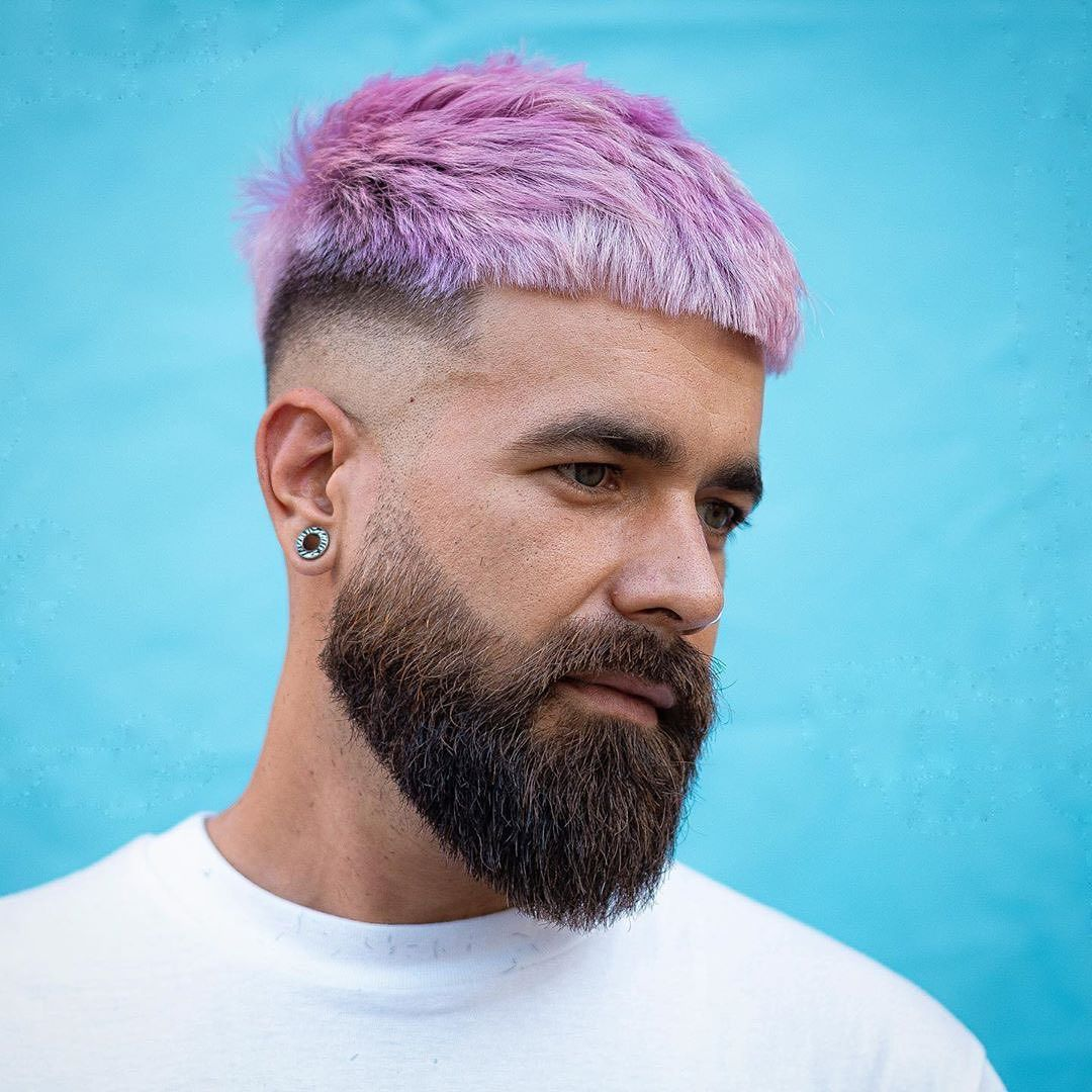 Best Beard styles (Medium Beard Style) with short Haircut In 2020 Pink Haircut For Men in 2020 ...