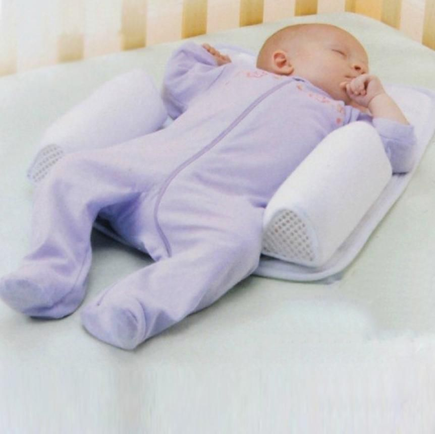 Infant Sleep Pillow Anti Flat Head Baby Sleeping Head Support Pillow Cushion UK