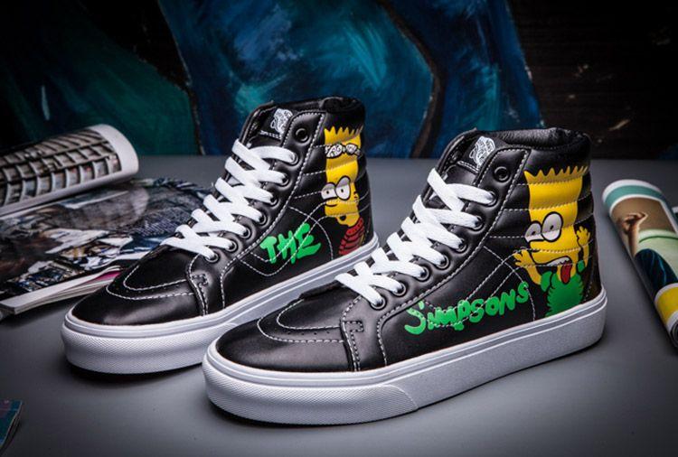 2bd168992f Vans Supreme The Simpsons SK8 Hi Leather Skateboard Shoes  Vans ...