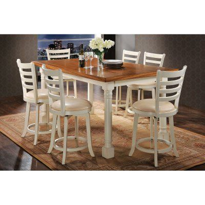 Acme Furniture Wilton 7 Piece Rectangular Counter Height Dining Custom Acme Dining Room Set Design Decoration