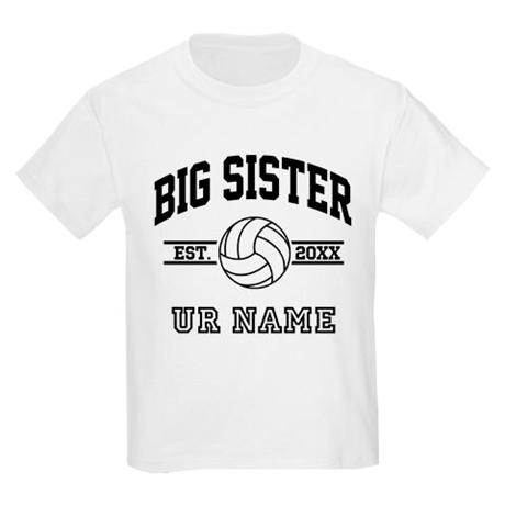 178f414c13a596 personalized big sister volleyball T-Shirt on CafePress.com ...