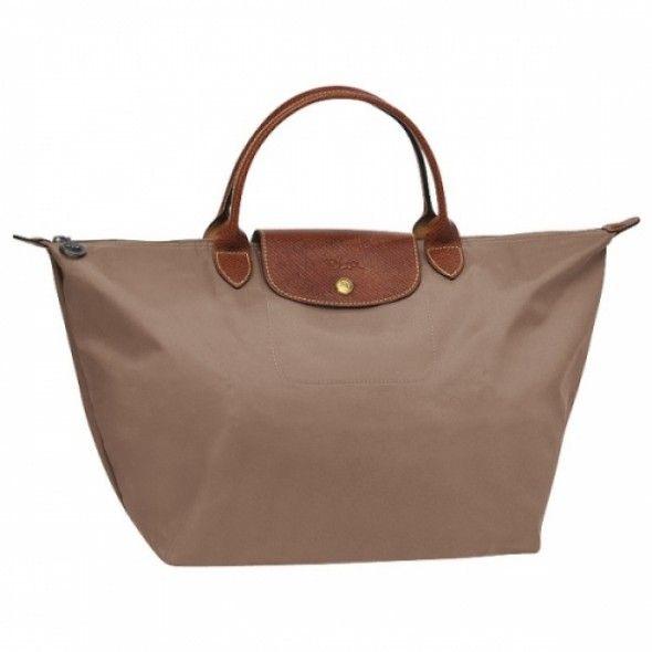 457a013790 Longchamp Le Pliage Medium Folding Short Handle Handbag Praline