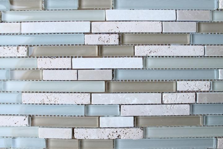 Bliss Spa Stone And Gl Linear Mosaic Tiles Rocky Point Tile