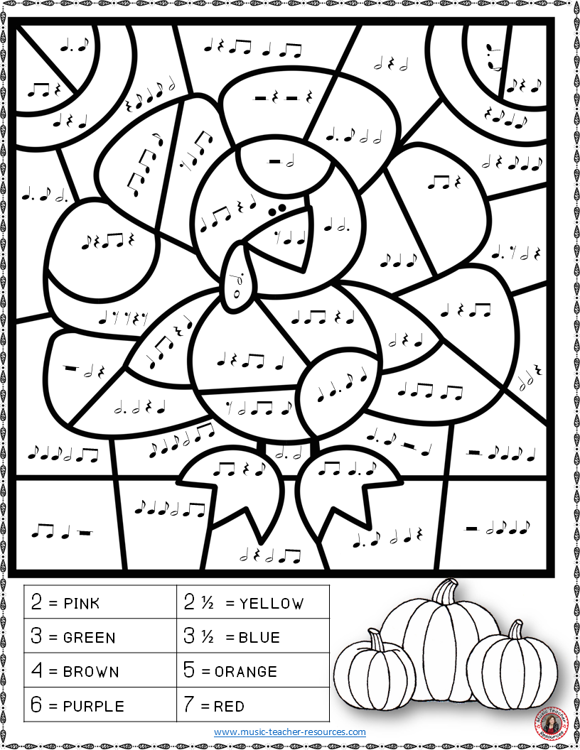Thanksgiving Music: 26 Thanksgiving Music Coloring Pages