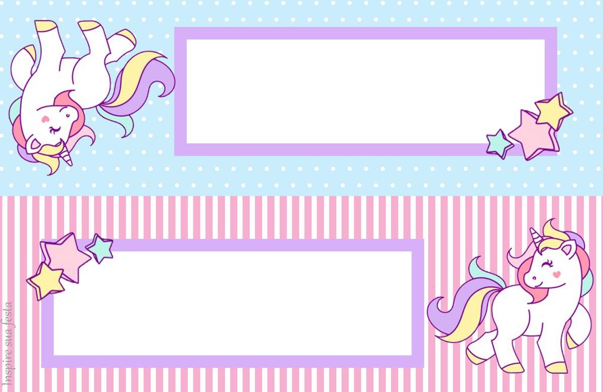 b1ad8def Unicornio: Tarjetas, Invitaciones y Etiquetas para Candy Bar para Fiestas  de Cumpleaños, para Imprimir Gratis.