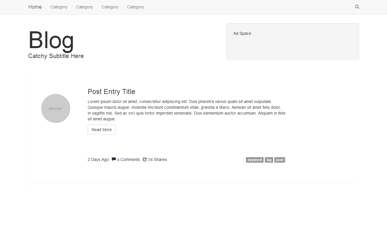 Blog Bootstrap Template | Coding | Pinterest | Template