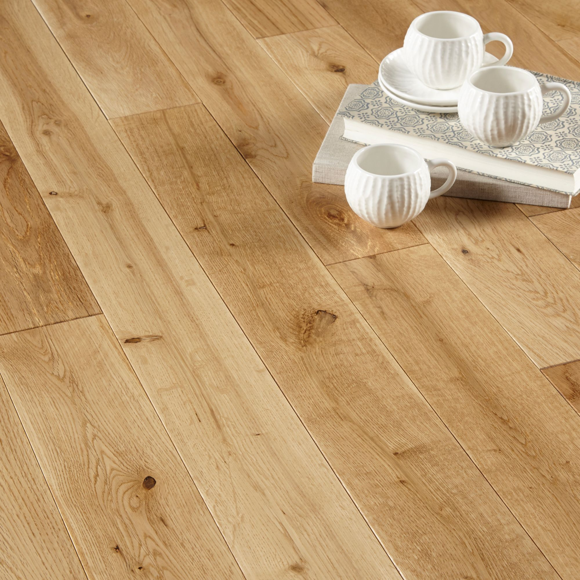 Colours Rondo Natural Solid Oak Flooring 1.3 m² Pack